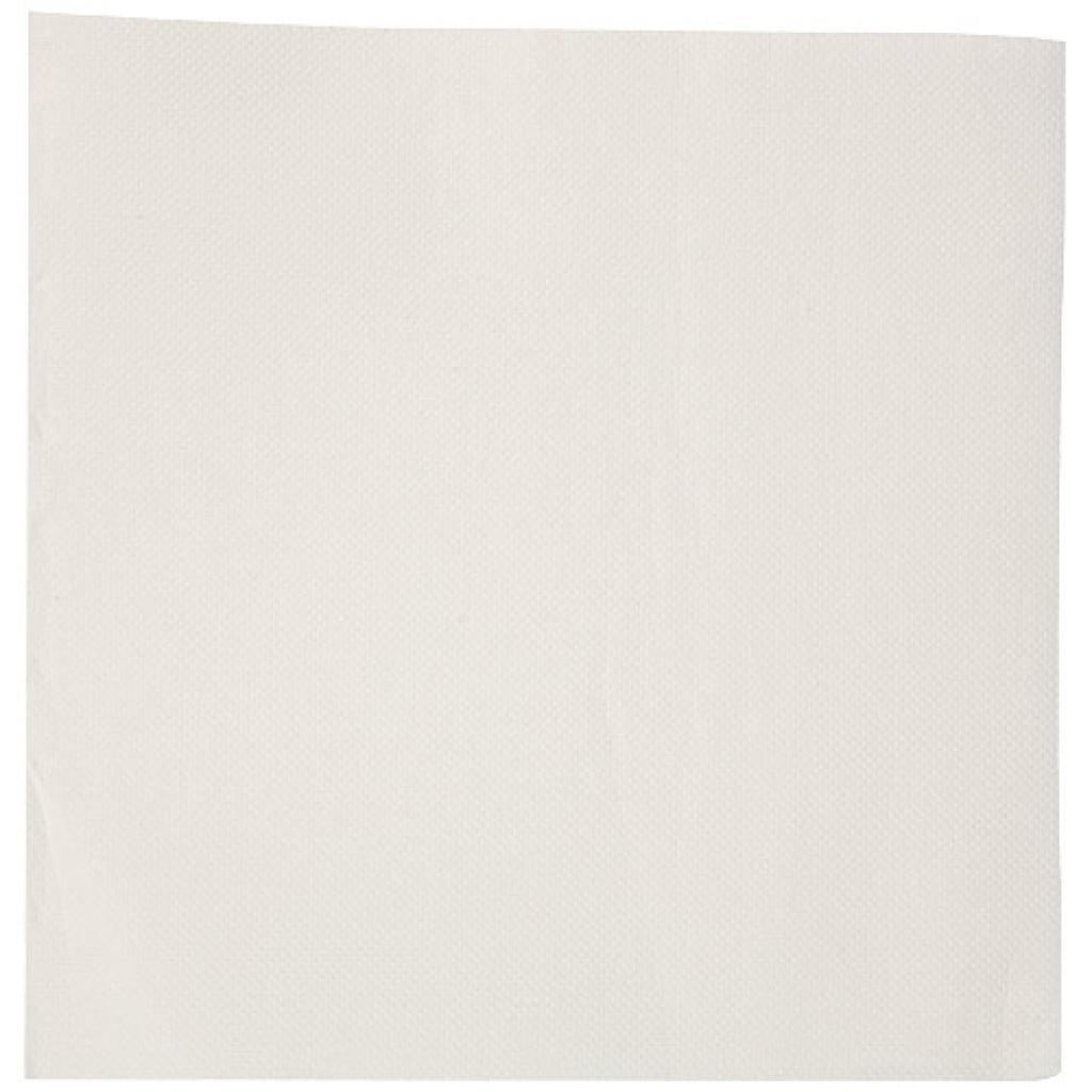 White double-quilted cocktail napkin 20x20