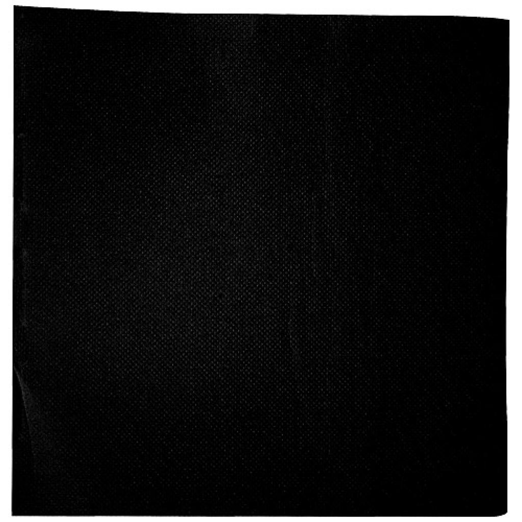 Black double-quilted cocktail napkin 20x20 cm