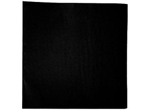 Serviette cocktail noire double point 20x20 cm