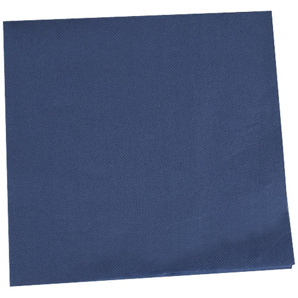 Navy blue double-quilted cocktail napkin 38x38 cm