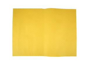 Bright yellow paper place mat 30x40 cm