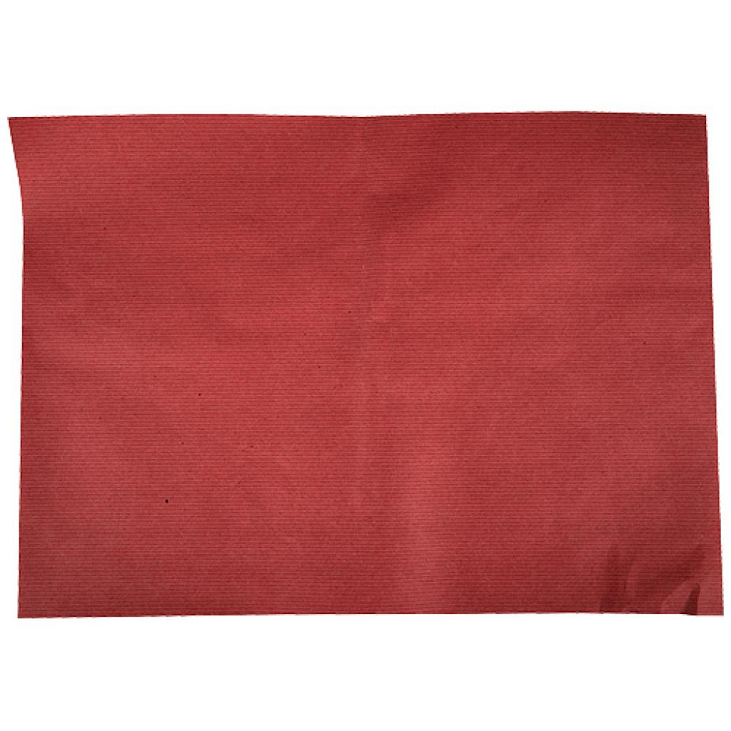 Set de table en papier kraft rouge 30x40 cm