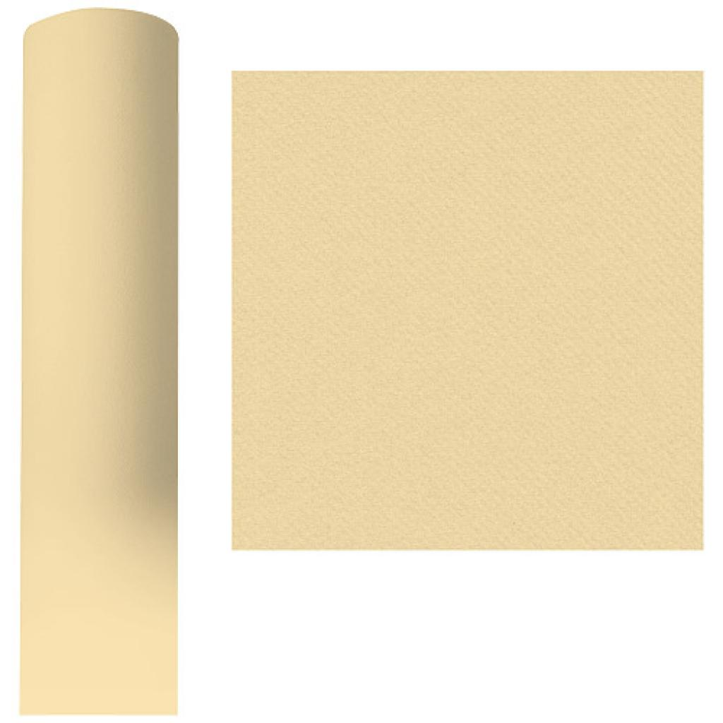 Roll of champagne-coloured dry process tablecloth, 1.20x25 m
