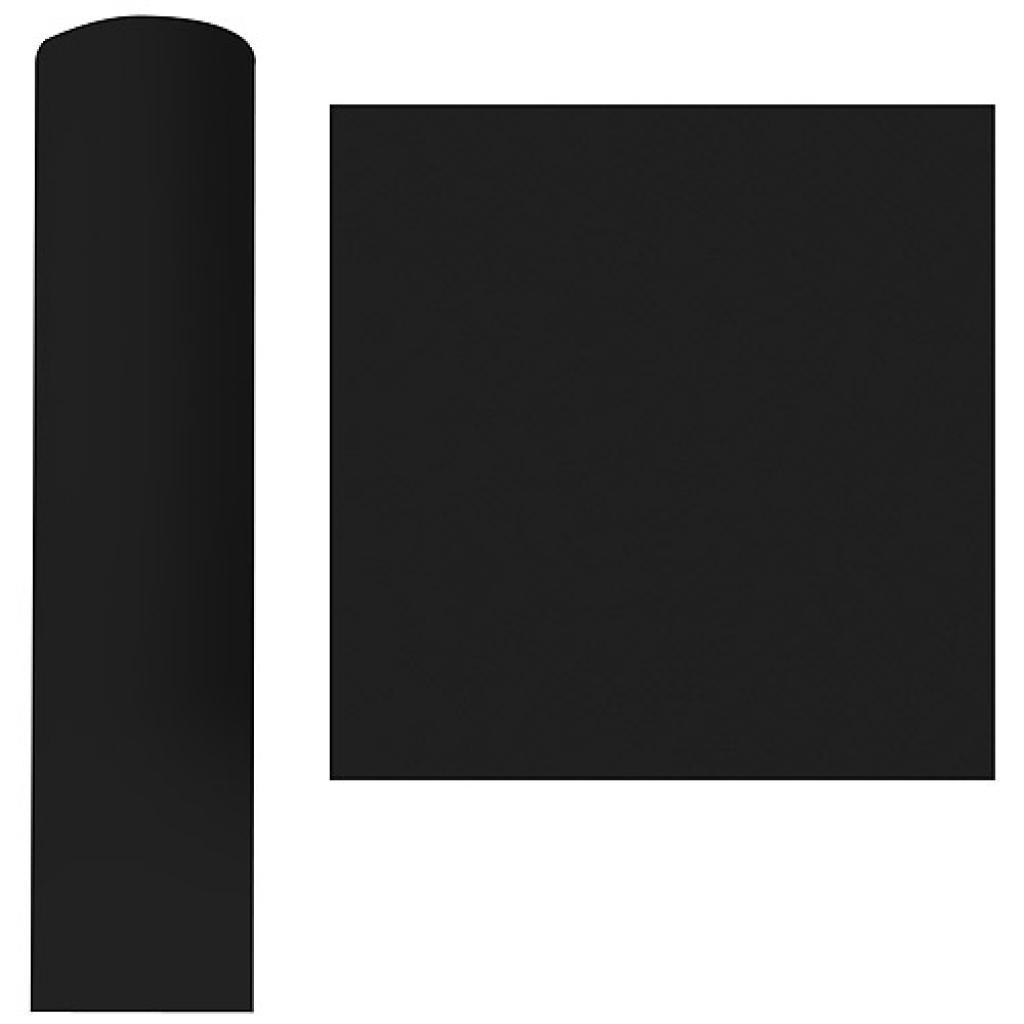 Roll of black dry process tablecloth, 1.20x25 m