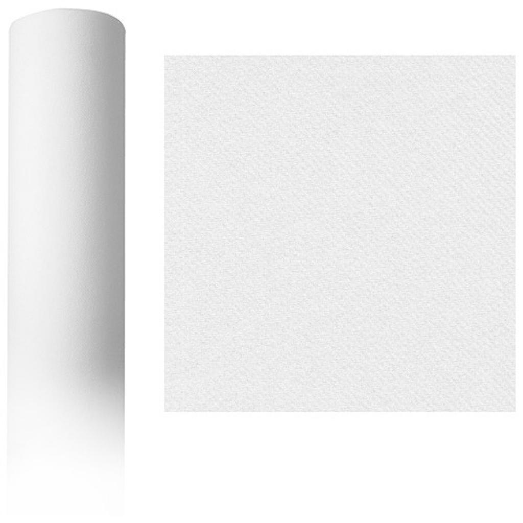 Roll of white dry process tablecloth, 1.2x50 m