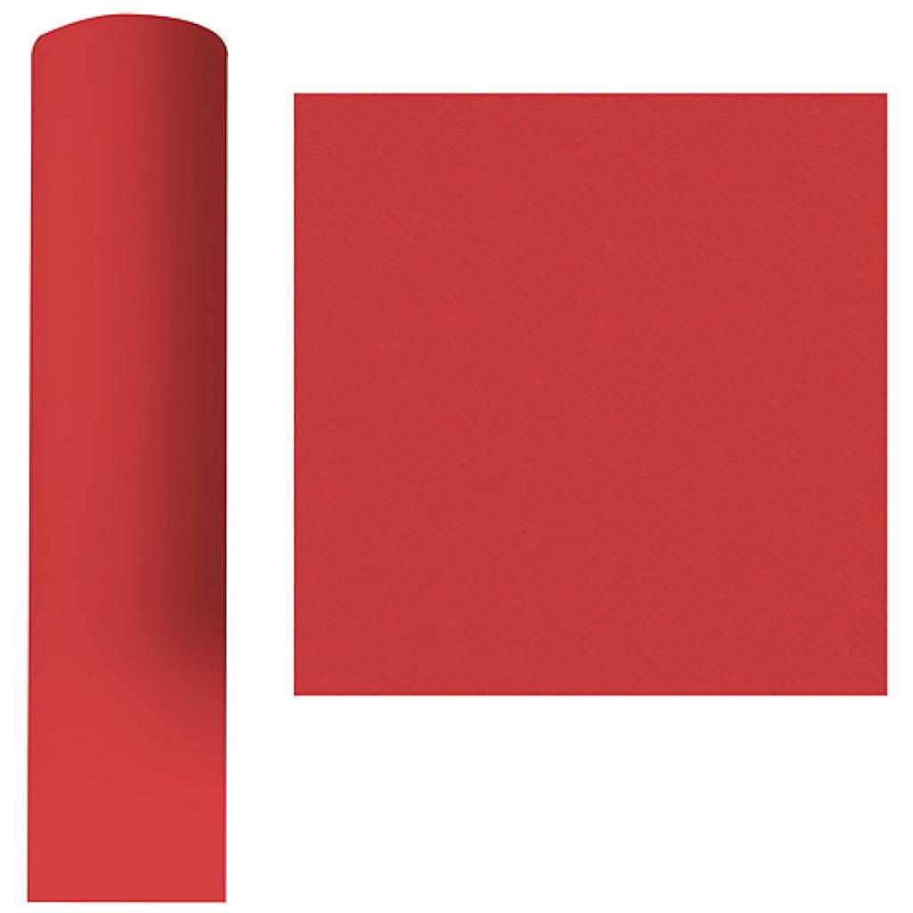 Roll of red dry process tablecloth, 1.2x50 m