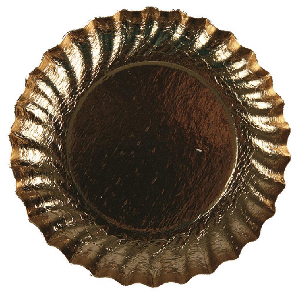 Gold-coloured paper plate Ø 9.5 cm