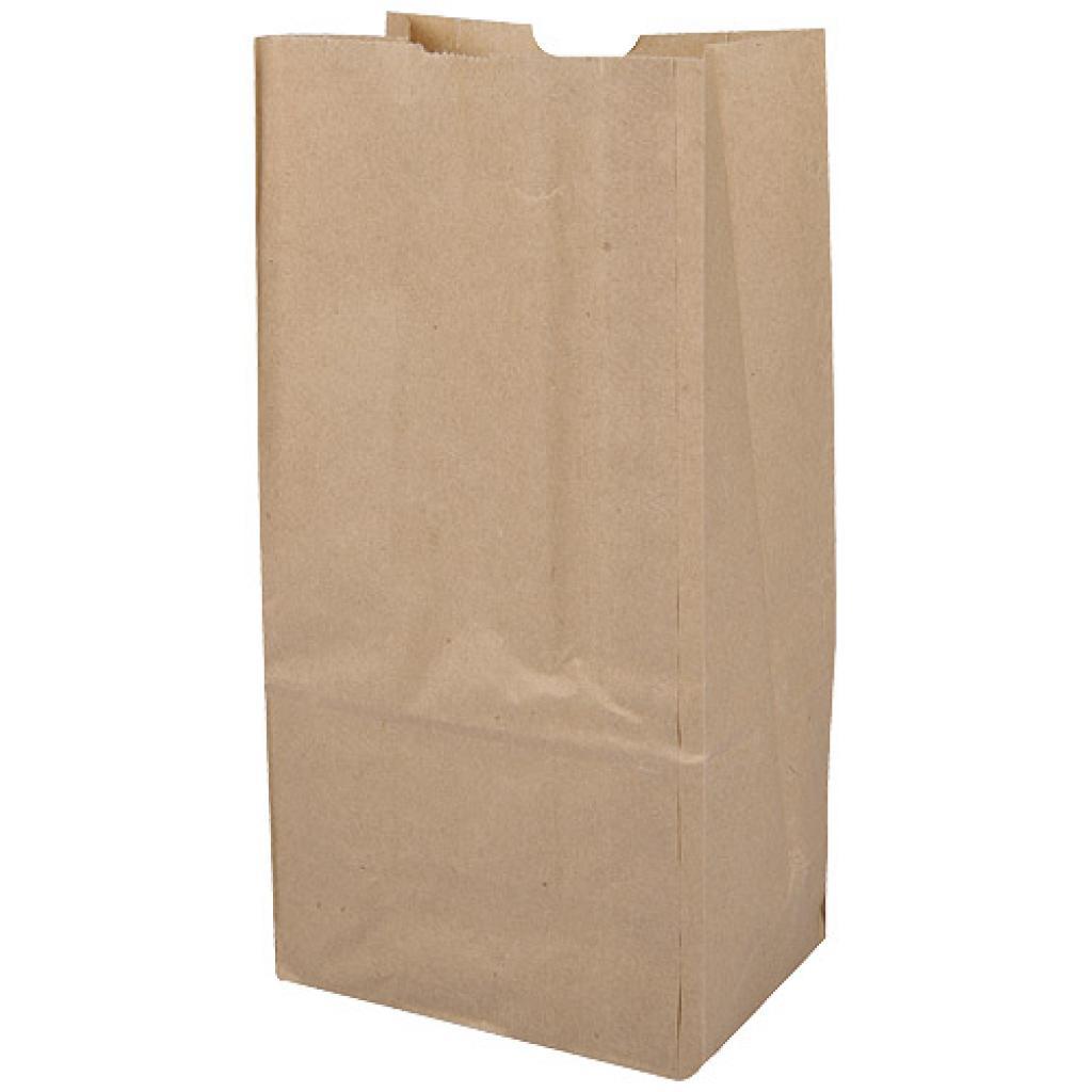 Brown kraft paper SOS bag 45g/m² 12x8x24 cm