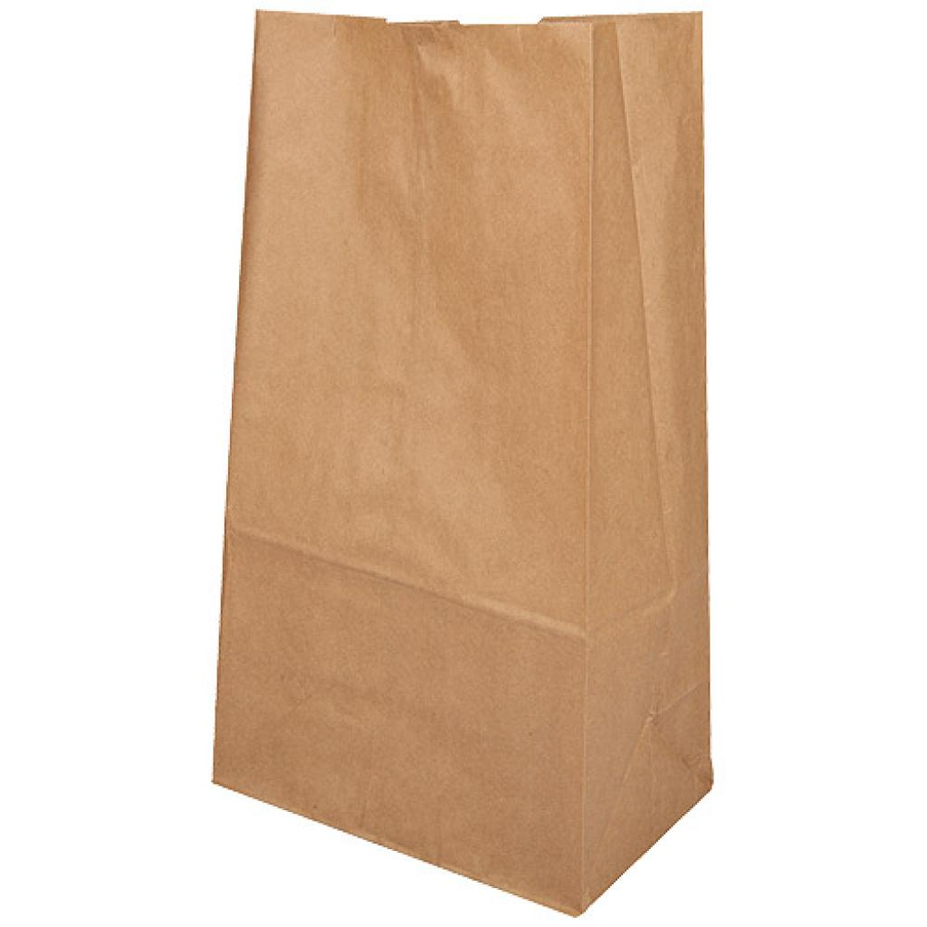 Brown kraft paper SOS bag 80gr/m² 25x15x43 cm