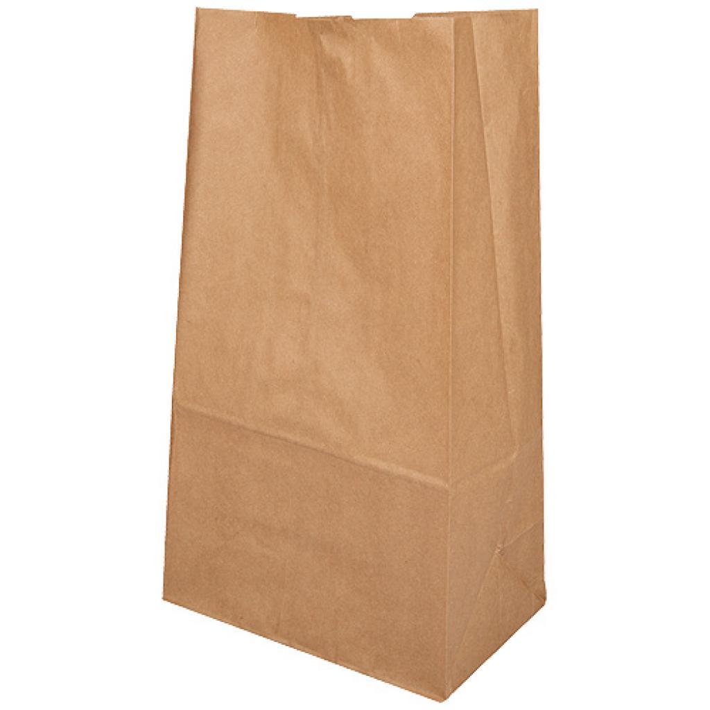 Brown kraft paper SOS bag 60g/m² 15x9x28 cm