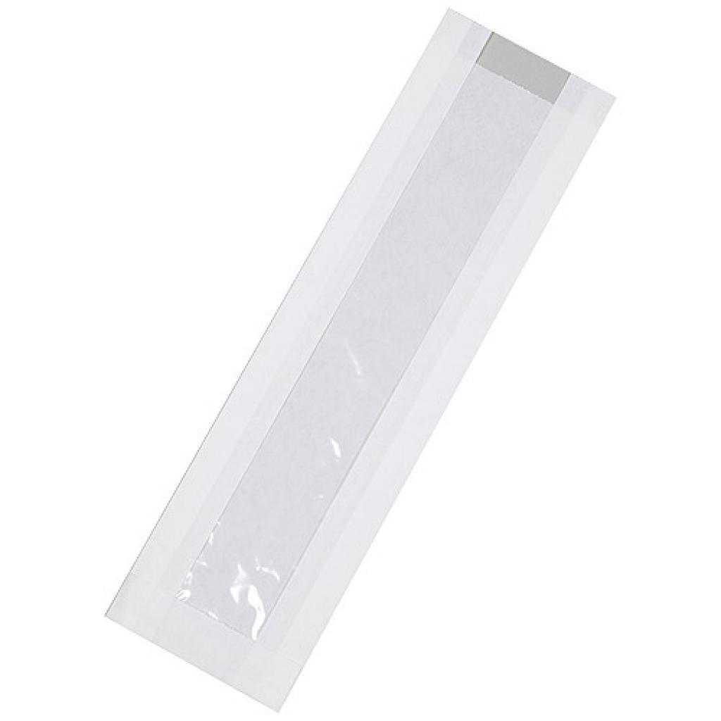 Sac sandwich kraft avec fenêtre 10x3x34 cm