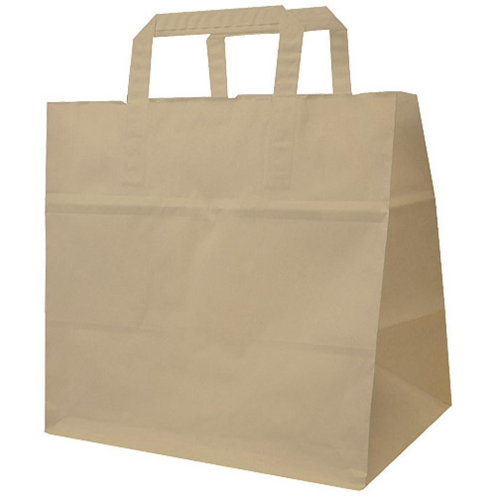 Brown kraft paper tote bag 70 g/m² 26x18x26 cm