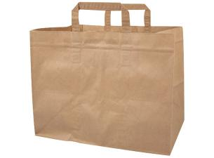 Brown kraft paper tote bag 70 g/m² 32x20x23 cm
