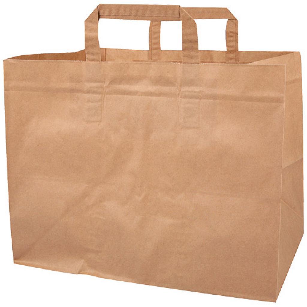 Sacs cabas en papier kraft brun (80g/m²) 32x15x35 cm
