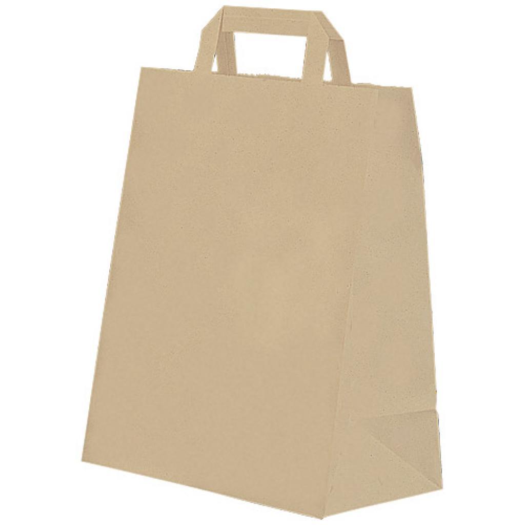 Brown kraft paper tote bag 80 g/m² 26x14x32 cm