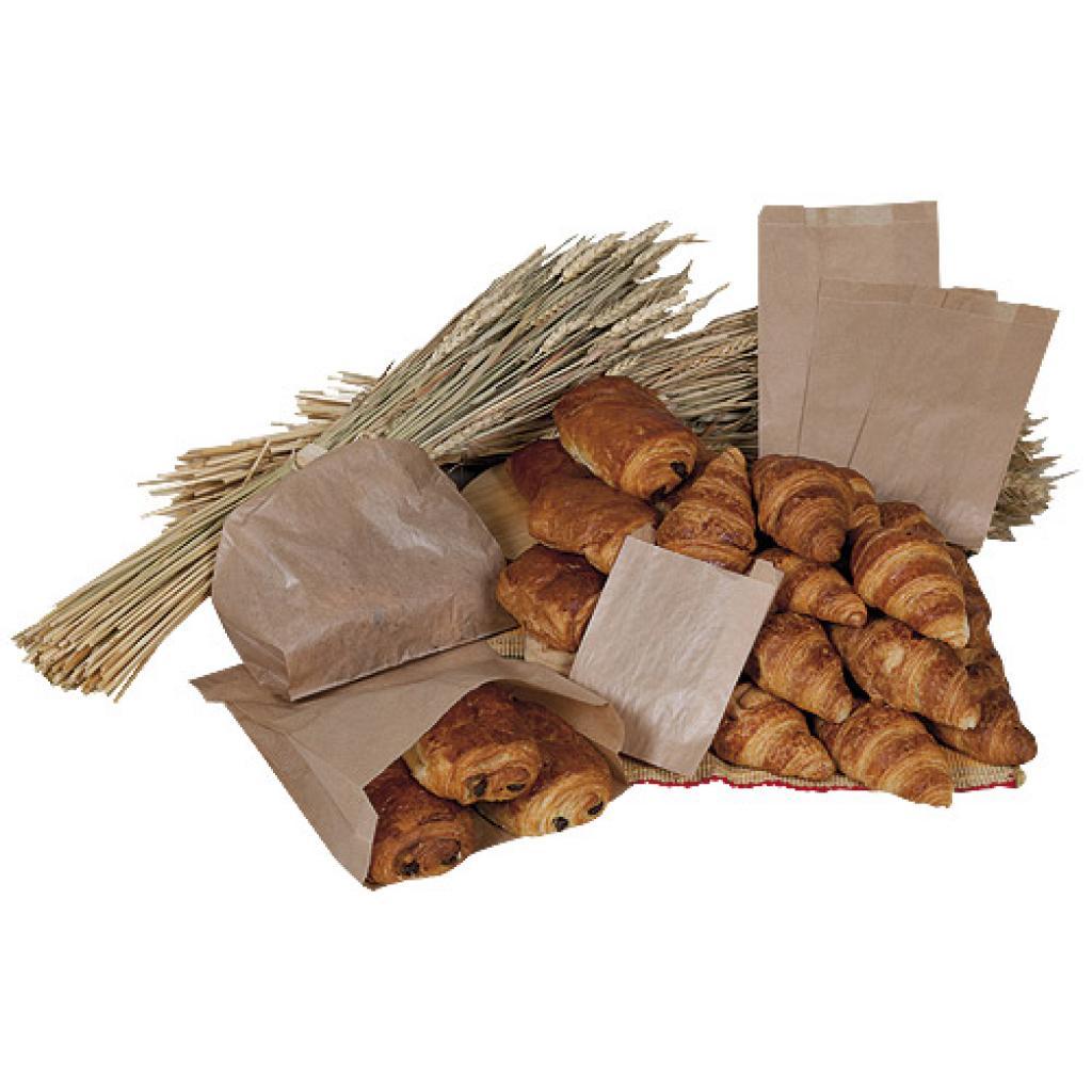 Sac croissant n°1 en papier kraft brun 2