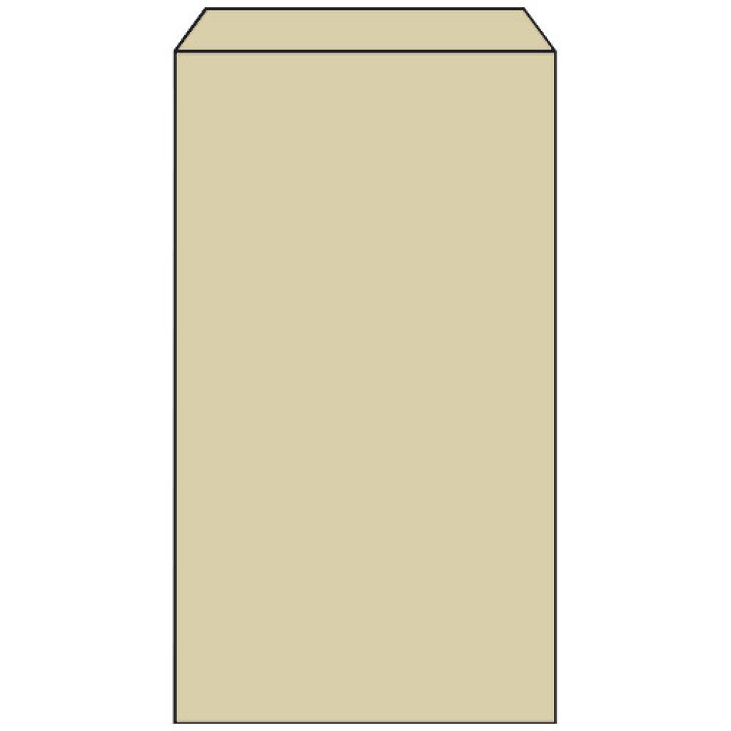 Sac croissant n°5 en papier kraft brun