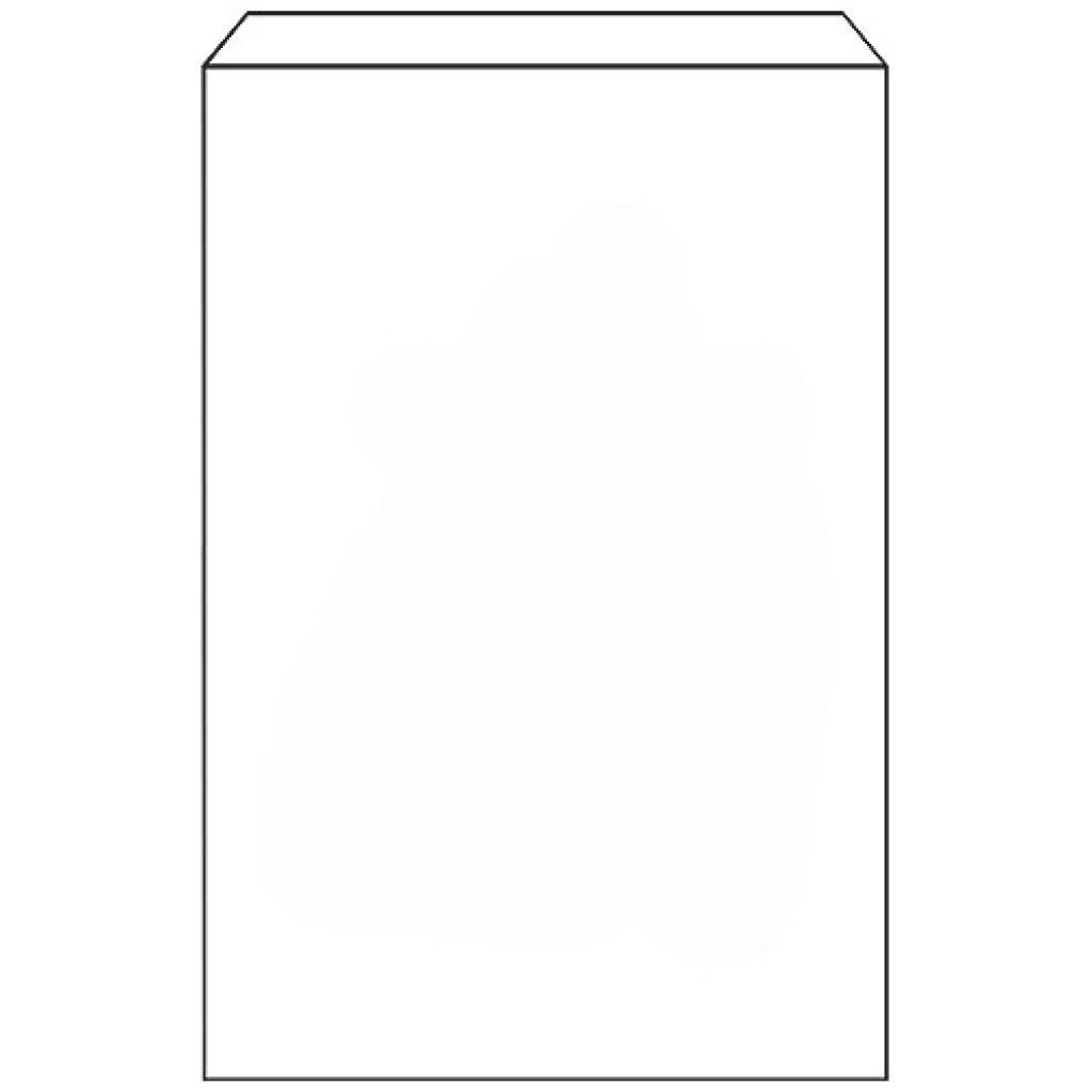 White paper brioche bag 260x60x340 mm
