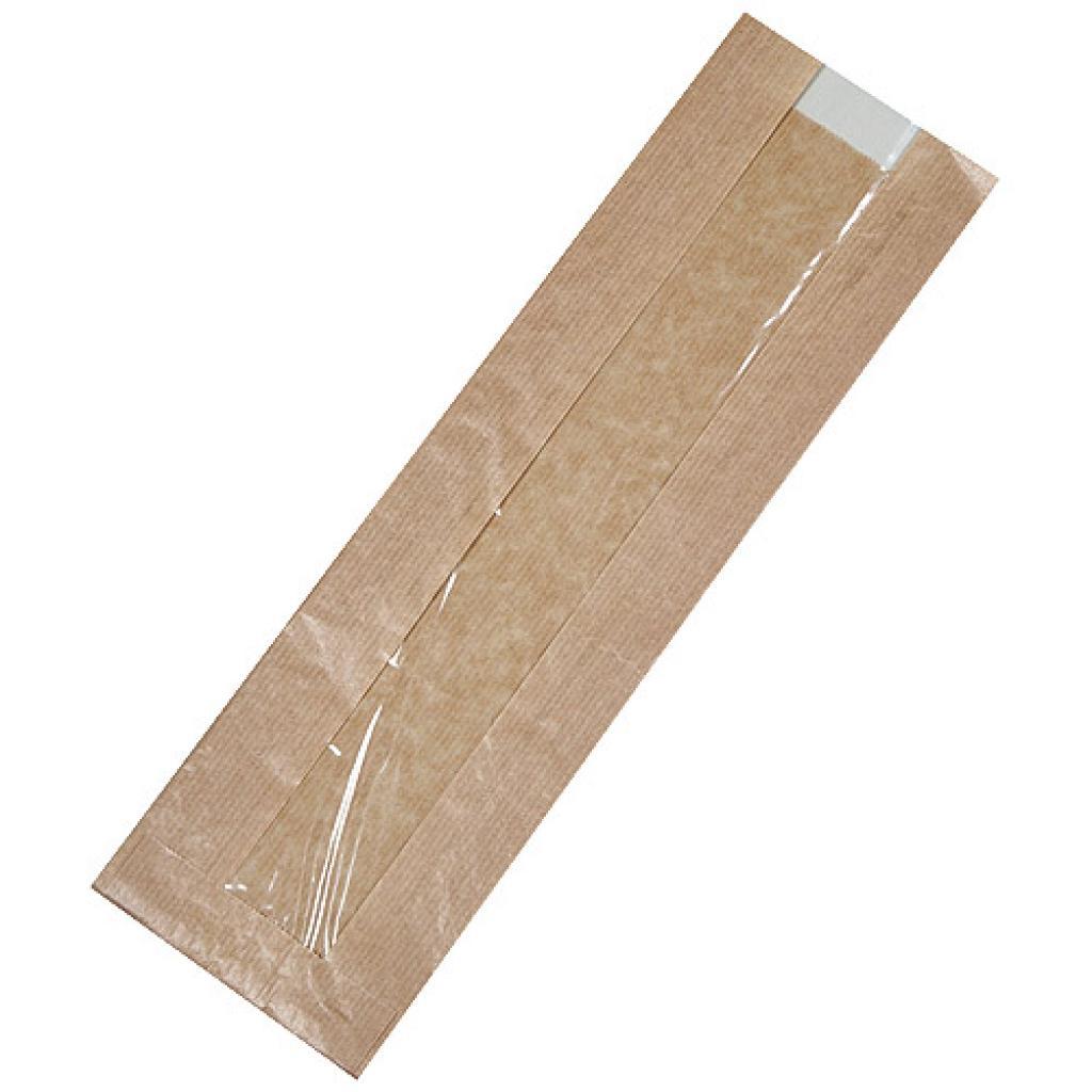 Sac sandwich kraft brun fenêtre 10x4x34 cm 2