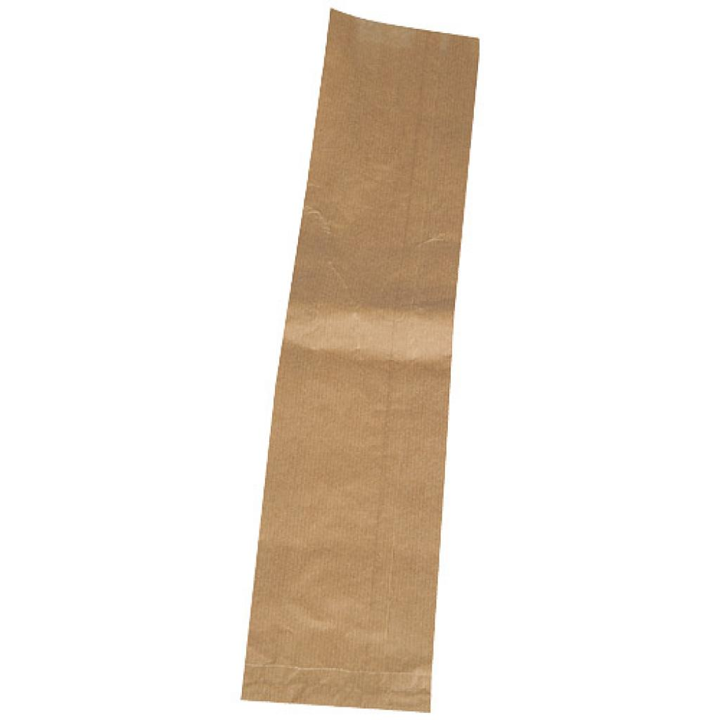 Brown kraft paper single baguette bag 10x4x50 cm