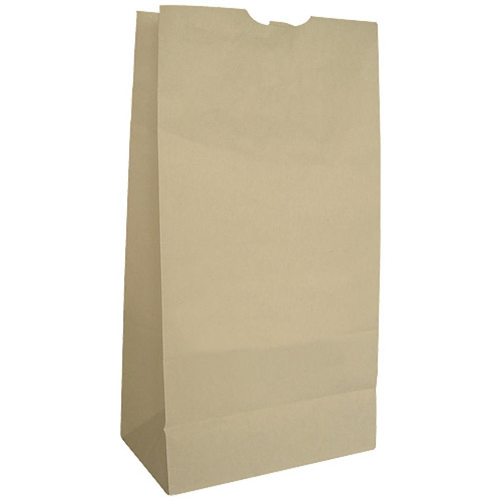 Brown kraft paper SOS bag 60g/m² 18x11x34 cm