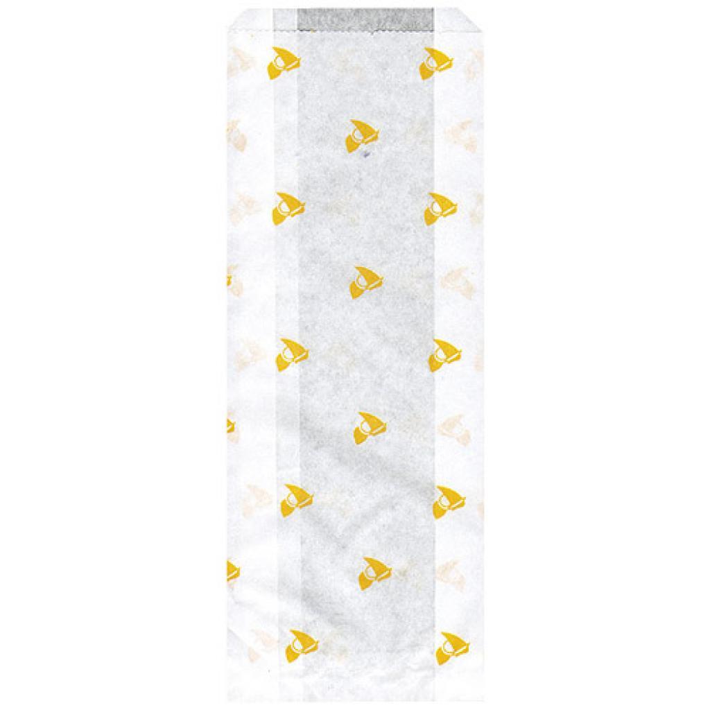 Sac sandwich décor alizé jaune 10x4x26 cm