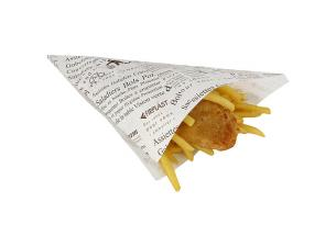 Large newsprint Fish and Chips cone