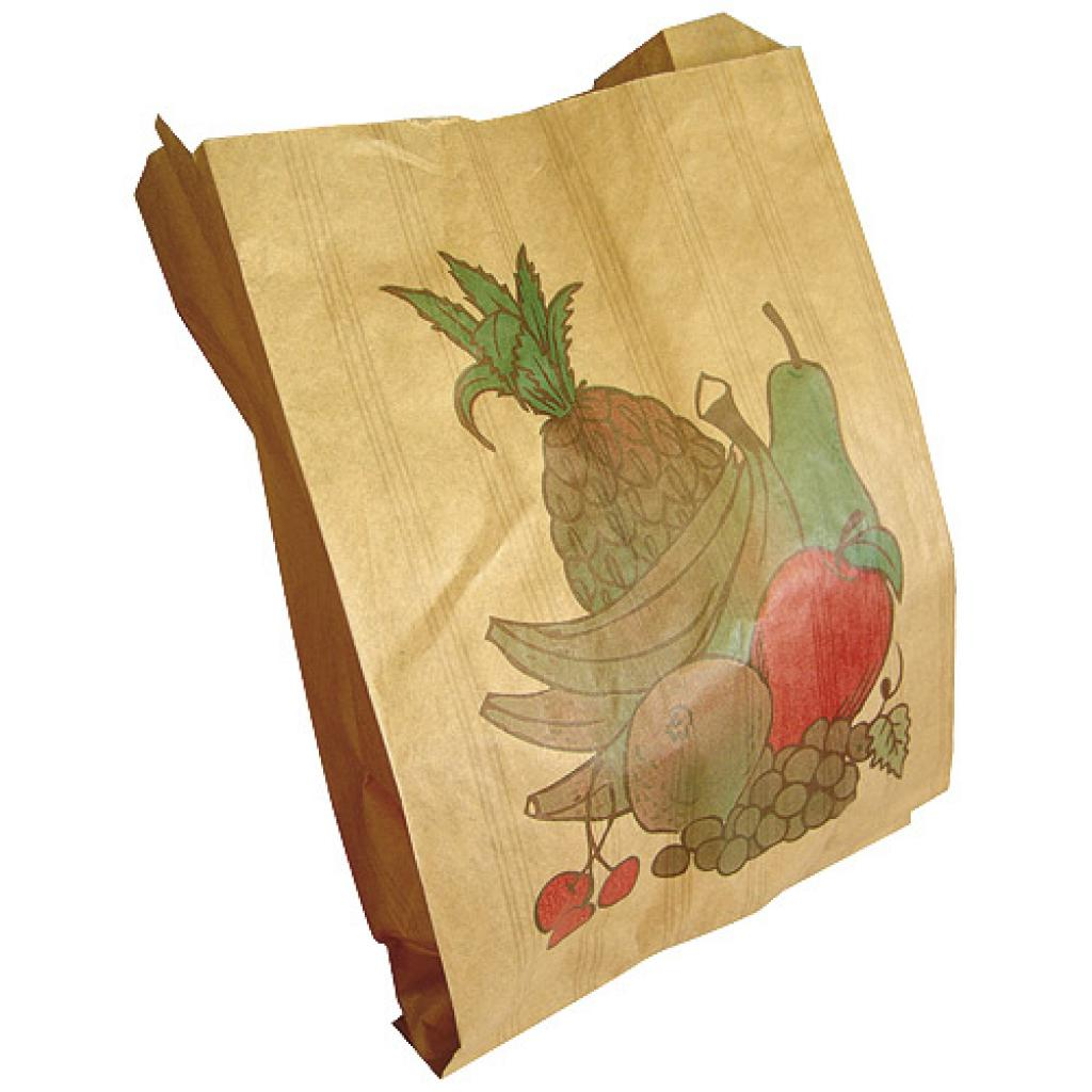 Sac à fruits 1 kg kraft brun décoré 33g/m²