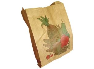 1kg brown decorated kraft paper fruit bags  33g/m²