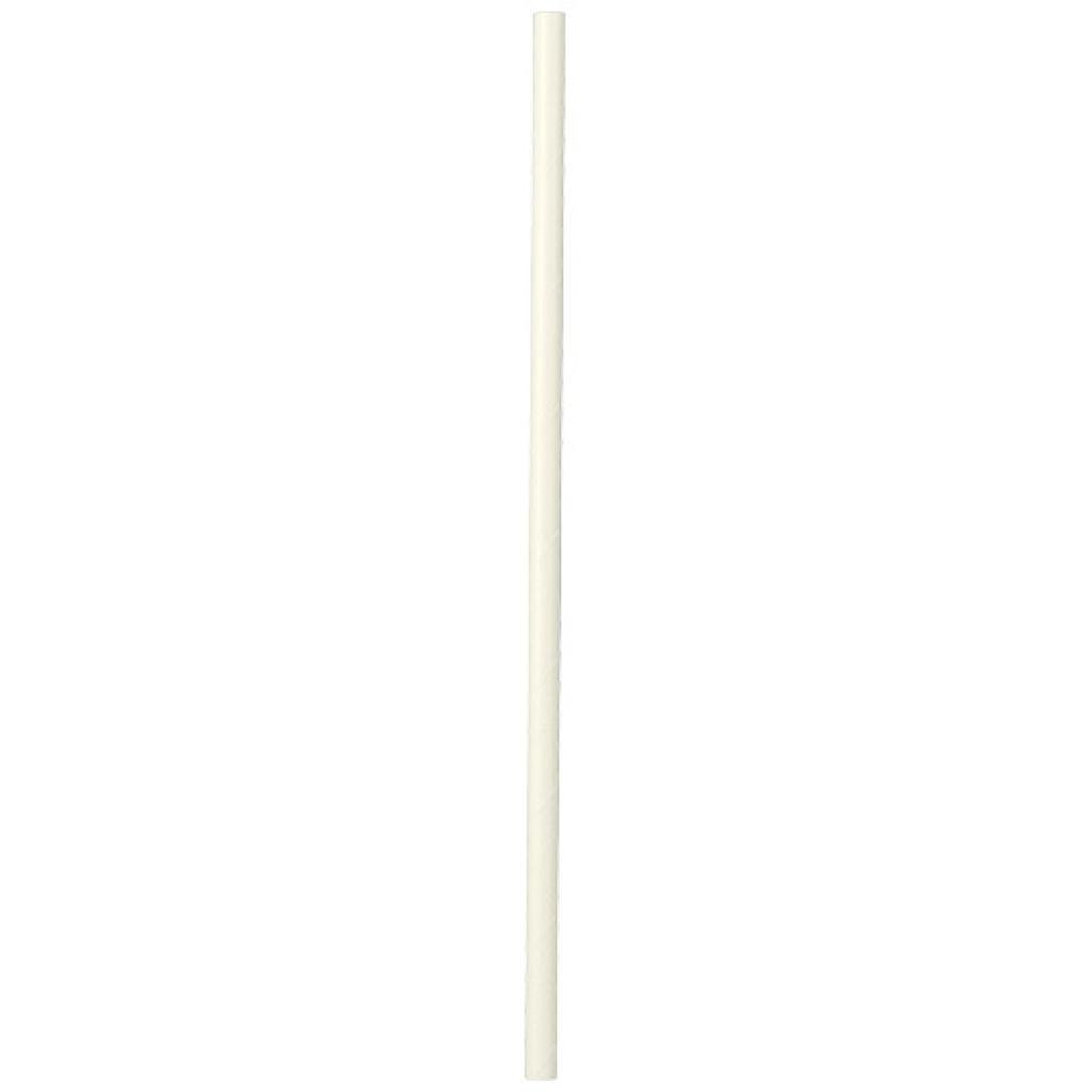 Paille papier rigide blanche Ø 6 mm