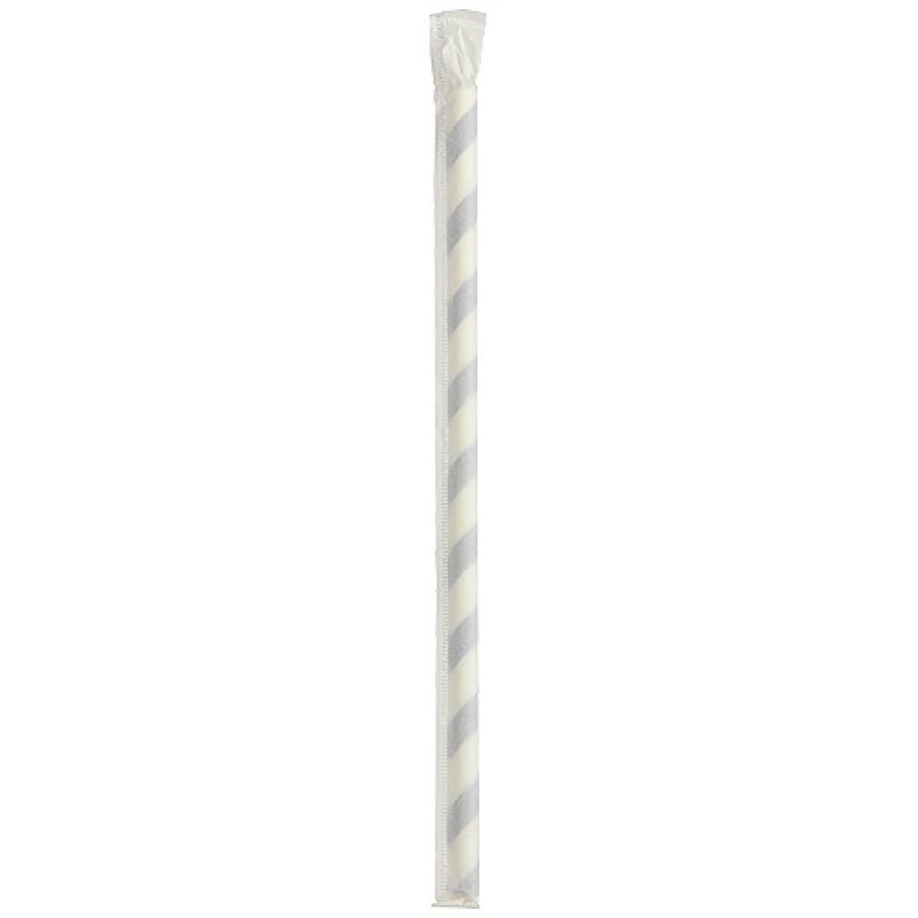 Individually wrapped  blue paper straw Ø 6 mm