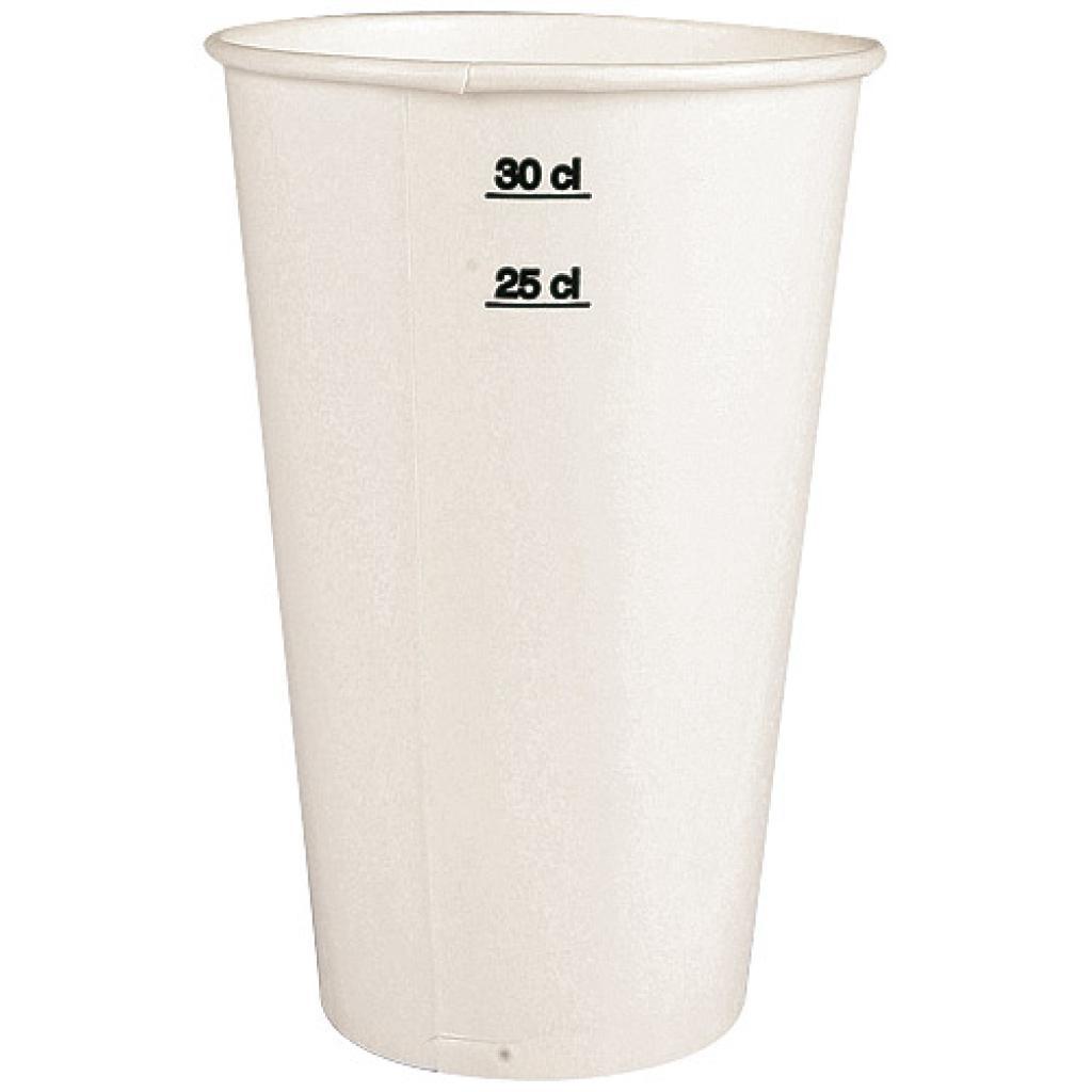 Gobelet carton blanc 25/30 cl - 12 oz