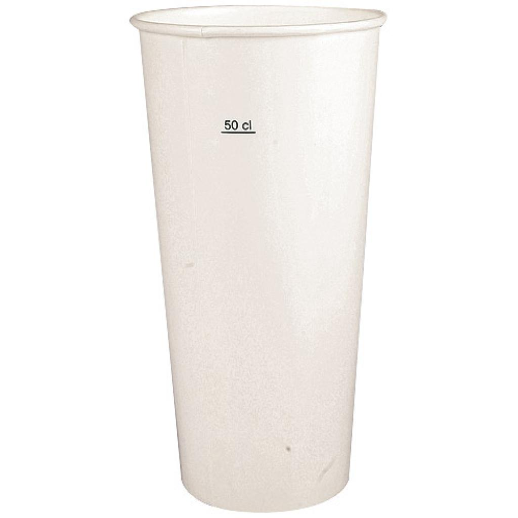White paper cup 50cl - 22oz