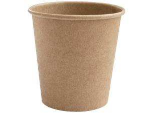 Brown kraft paperboard cup 12cl / 4oz