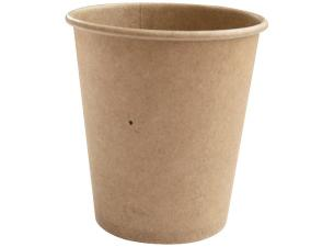Brown kraft paperboard cup 18cl / 6oz