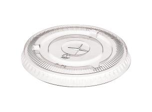 Flat lid with straw passage for 20/30 pet cups