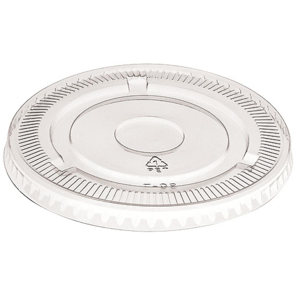 Flat lid without hole for 47  cl, 60 cl pet cups  and dessert bowl 18 cl