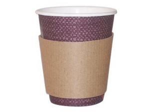 Corrugated board clutch for cups 12 and 16 OZ