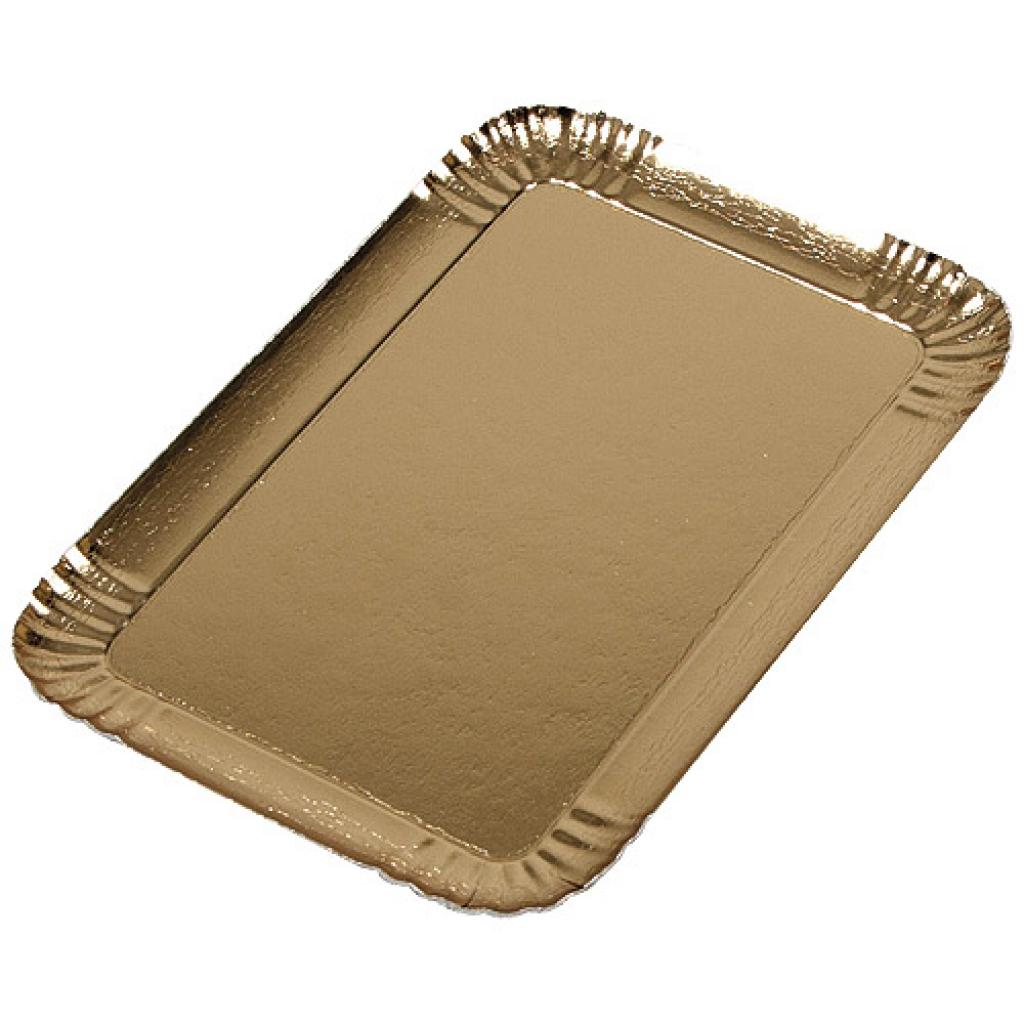 28x19cm gold-coloured square cardboard tray 2