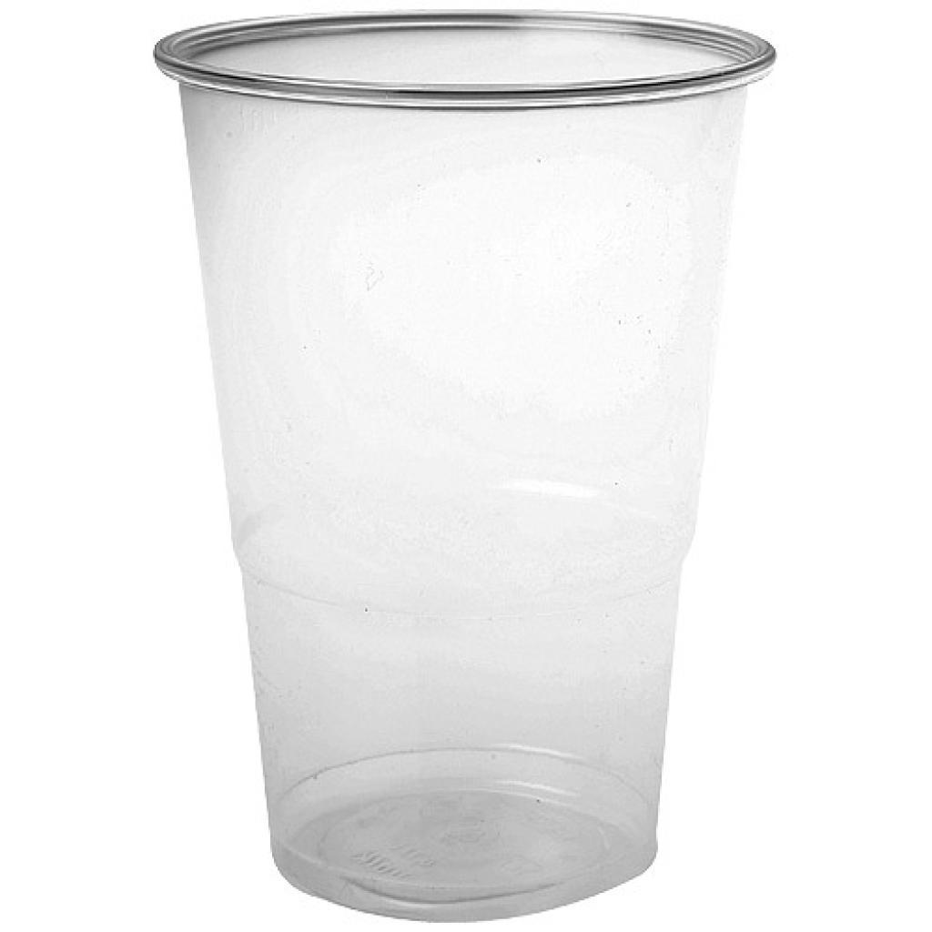 Gobelet plastique PP transparent 25/33 cl ligné 25cl