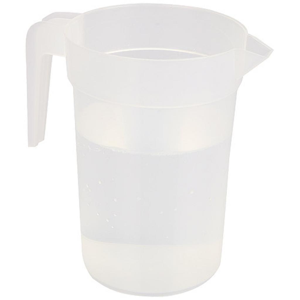 Pichet réutilisable en plastique PP transparent 1 l par 120