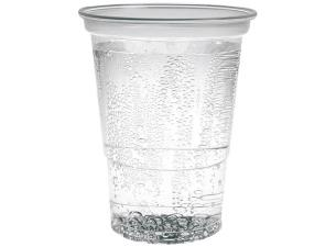50cl transparent PP cup with a groove at 40cl