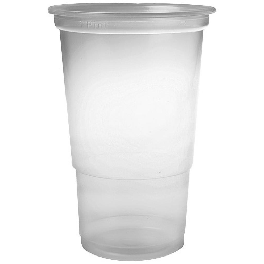 61cl transparent PP cup with a groove at 50cl