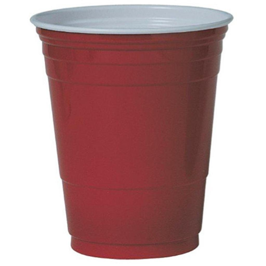 Red plastic Party cup 48cl