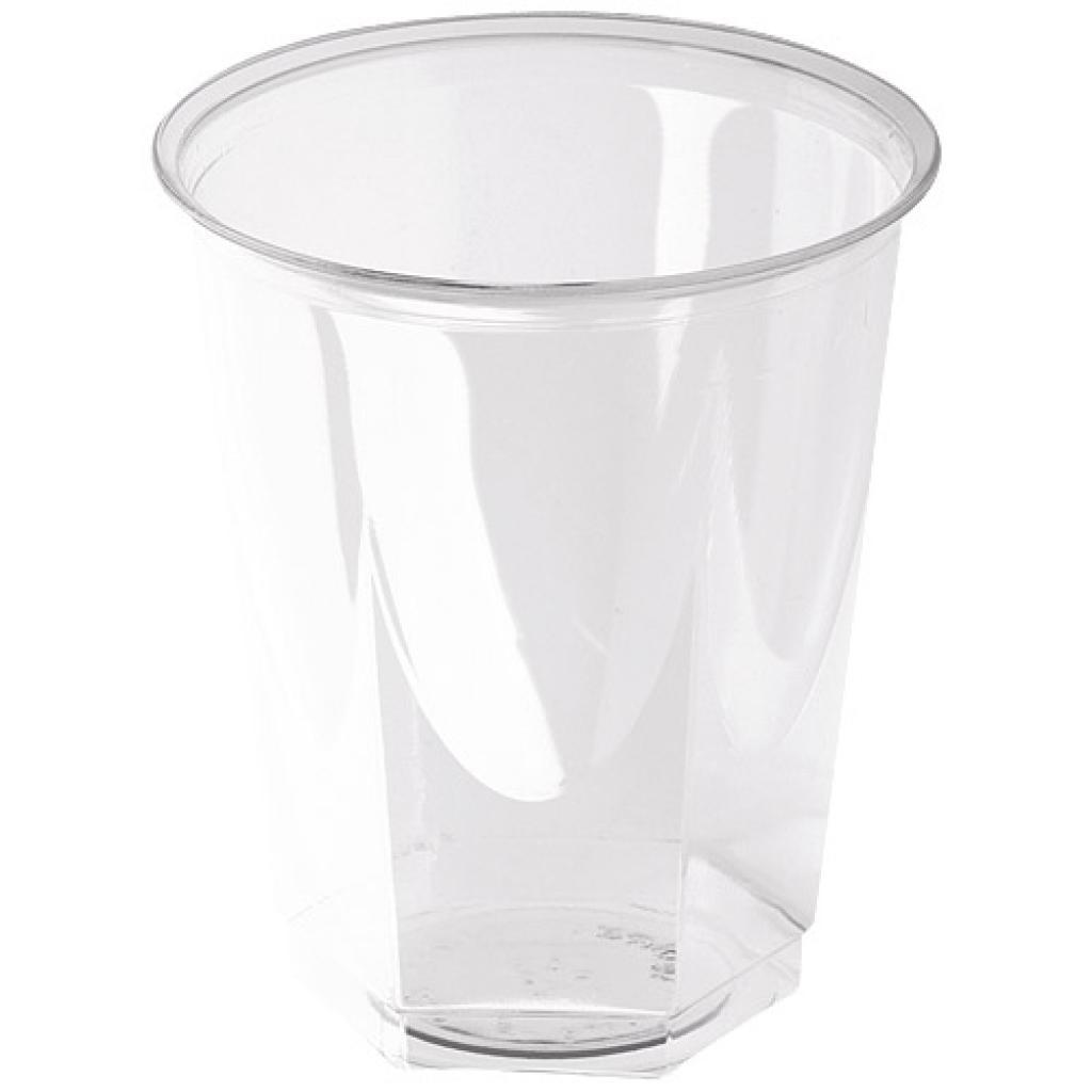 Gobelet PS transparent forme octogonale 20/25 cl