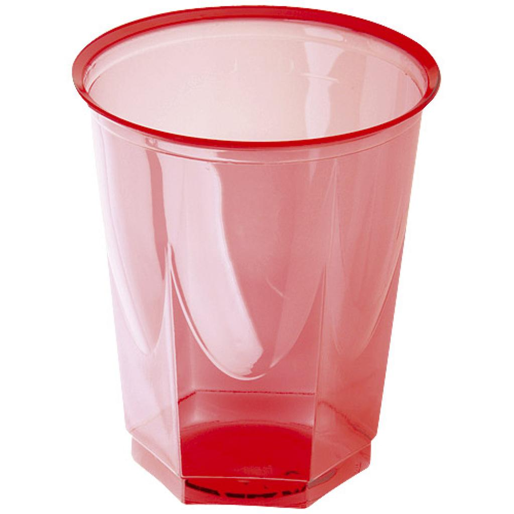 Red crystal PS cups 20/25cl