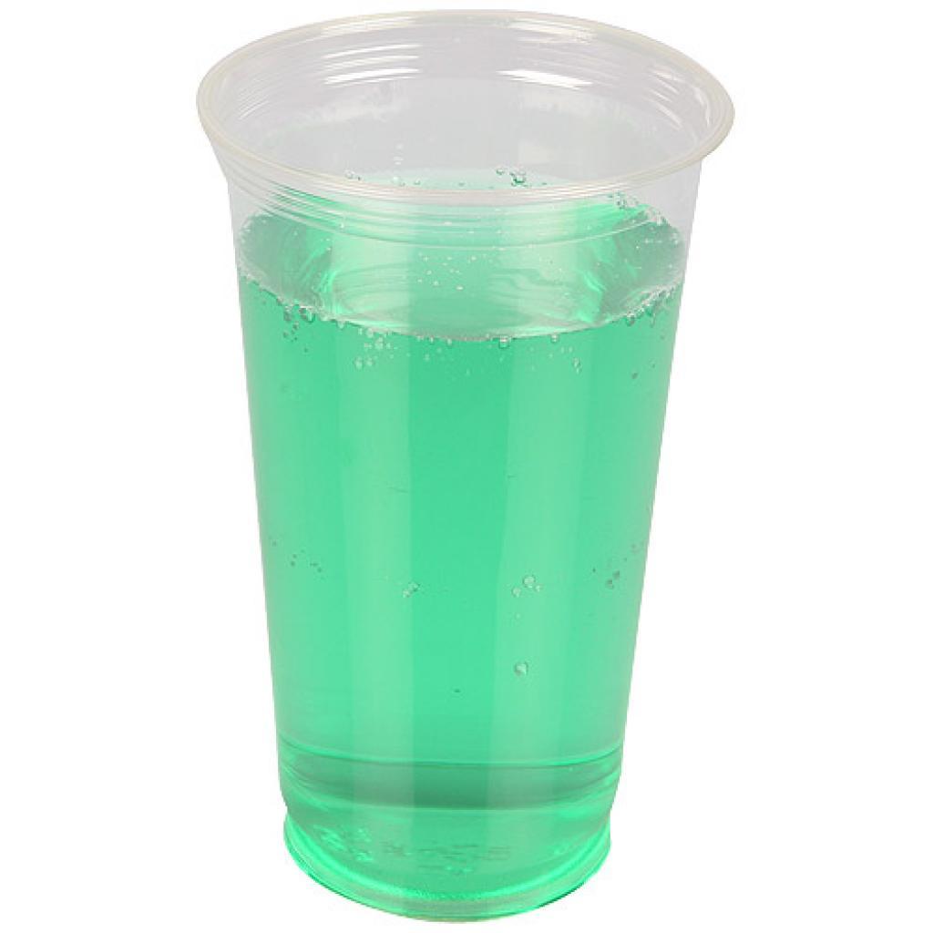 Transparent PET cup 50/68,5cl