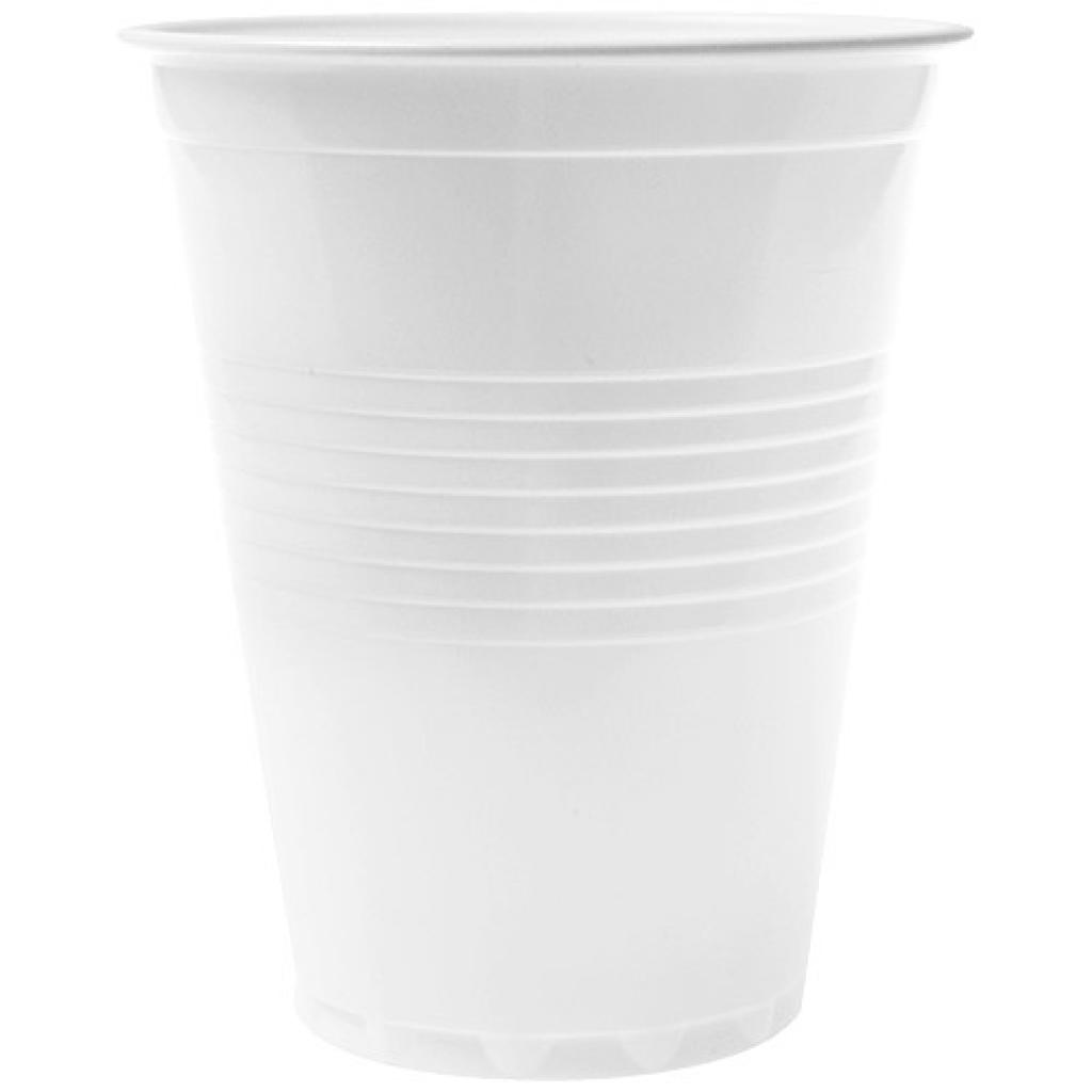 15cl white PS plastic cup for vending machine