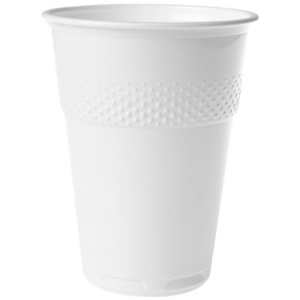 18cl white PS plastic cup for vending machines