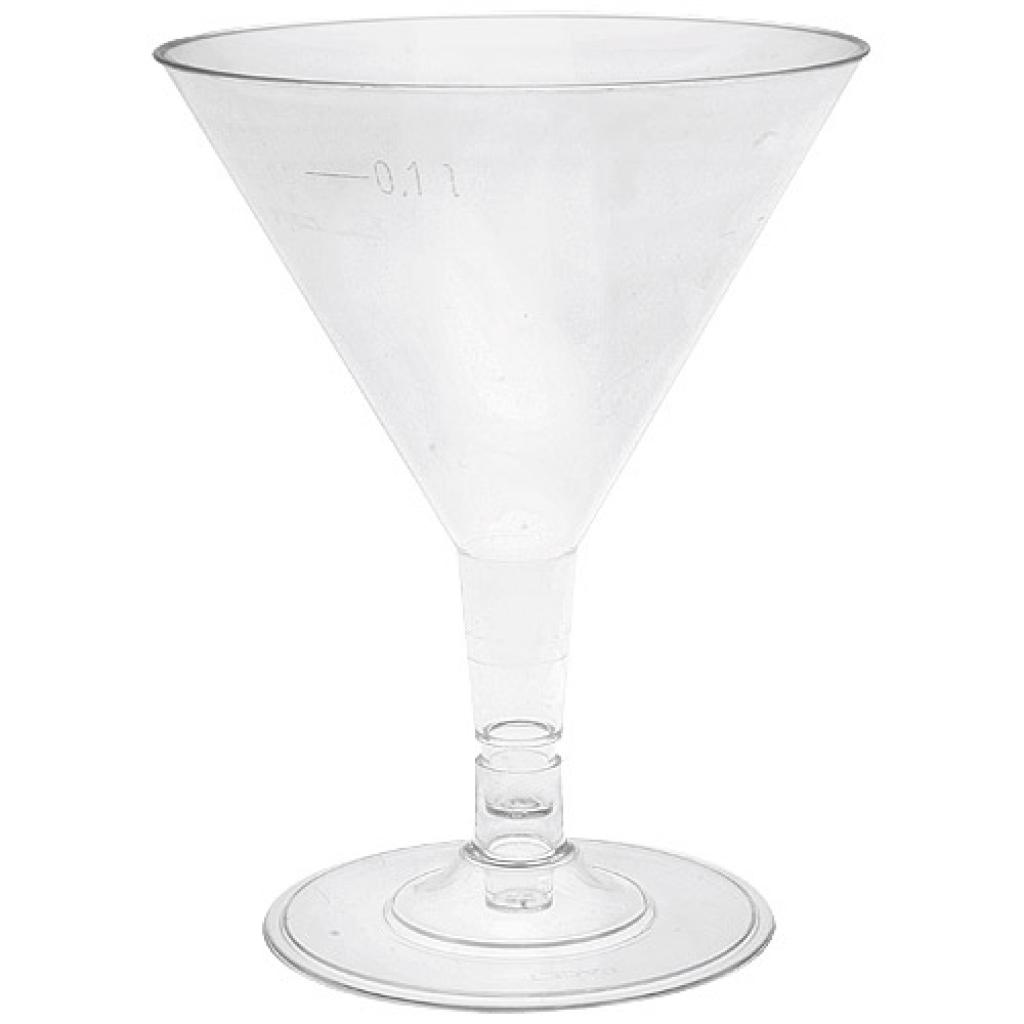 16cl PS cocktail glass with a groove at 10cl 2